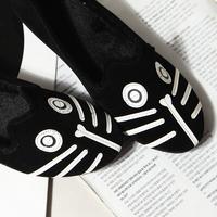WOMEN Free shipping 2014 MJ dog cat flats, women's flat shoes alpargatas loafers casual cartoon suede flats shoes