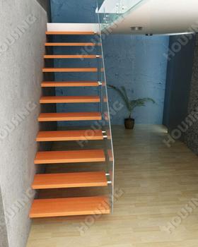 Int rieur l forme escalier en bois bande de roulement en design de luxe dans - Forme escalier interieur ...