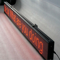 (P1016961R)Hidly brand DC5V Prommable 10mm single red color indoor display /P10 led text display /LED scrolling display