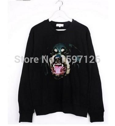 Hot sale 2015 Fashion Women black hoodie Chic Dog head Rottweil sweatshirts Ladies Pullovers drop shipping(China (Mainland))