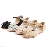 Size 34-43 Flat Sandal New High quality Bow-Knot Women Buckle Strap Wedge sandals Elegant Summer shoes sandalia feminina WN4001