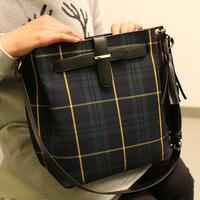 2015 desigual plaid women messenger bags bucket mango bag canvas one shoulder crossbody women bag handbag bolsas femininas bolsa