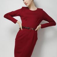 H6863 European women's explosive temperament fashion 2015 new dresses (sent belt)