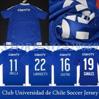 14/15 THE NEW 3A+++ Thai Version Club Universidad de Chile Bule 2015 Home Club Santiago de Chile Jersey University Of Chile