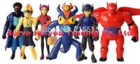 2015 Popular 6pcs/set Big Hero 6 Hiro Baymax action figure kid toys Christmas New Year gift