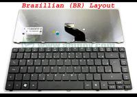 New Laptop keyboard for Acer Aspire 3810 3810T 4735 4735G 4735Z 4736 4736G 4736Z Matt Black Brazil (BR) version - V104630DK3 BR