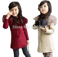 2015 brand new spring models girls dresses child baby  yarn shawl collar dresses