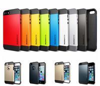 Flexible Tough Case For iPhone 5 5S Luxury Korean Gold SLIM ARMOR Shell Cover TPU + PC ZA007