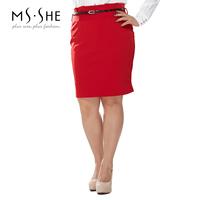 Msshe plus size clothing wear work tailored skirt high waist skirt 2014 120829 bust skirt