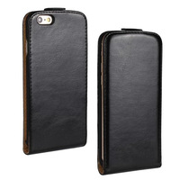 Wholesale 100pcs/lot Crazy Horse Leather Flip Case Cover for iPhone 6 4.7'' DHL Fedex Shipping