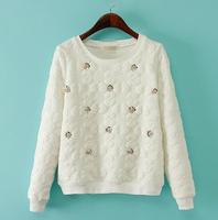 2015 Winter new Korean version of the European leg temperament ladies solid hand-beaded sweater women sweater