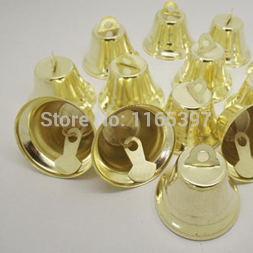 15mm 48pcs iron church bell Christmas decoration bells polish gold silver color festive supplies Christmas cracker DIY crafts(China (Mainland))