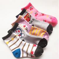 7Pairs/LOT Children Cute Cartoon Animal Cotton Short Student Socks Boys Girls Sock Kids Socks Multicolor