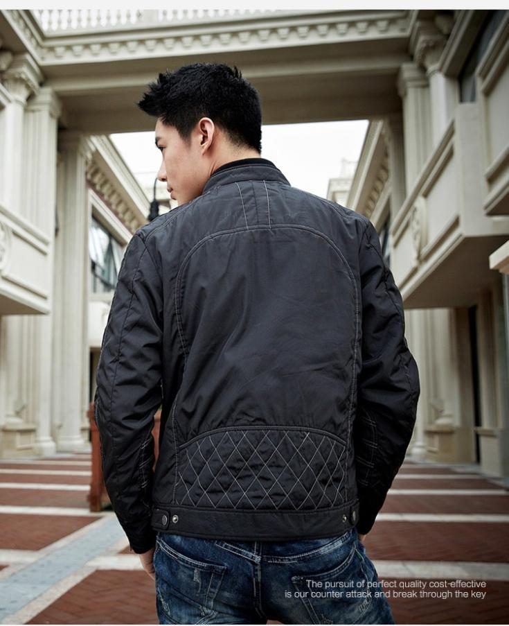 2014 Men's thick winter jacket tide models Men Jacket black jacket Specials(China (Mainland))
