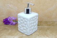 Ceramic soap dispenser, lines of relief, pressing, packing, hand wash bottle, perfume bottle, 300ml