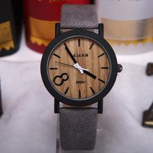 Simulação de madeira Relojes de quartzo homens relógios Casual pulseira de couro de cor de madeira madeira relógio Masculino relógio de pulso Relogio Masculino(China (Mainland))