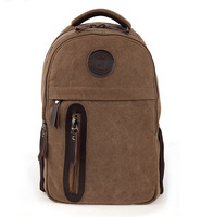 Men's Vintage Canvas Backpack Rucksack School Satchel Hiking College Bag Laptop Travel Shoulder Bags Mochila Bolsas 1008#