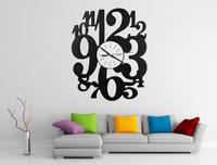 New Arrival Modern Art Big Wall Clock Digital Wall Watch Decoratives Watches for Walls Big Clock Wall Home Decor