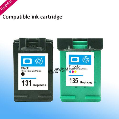 где купить Картридж с чернилами Uniprint 2 HP 131 135 C8765H C8766HE Photosmart 2710, 2610, 325, PSC2355 Deskjet 460se, 5943, 5940, 6620 FOR HP135 по лучшей цене