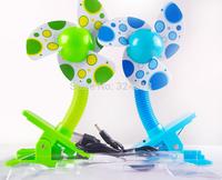 Portable Mini fan USB/AA batteries clamp fan Cute baby fan EVA soft fan blade