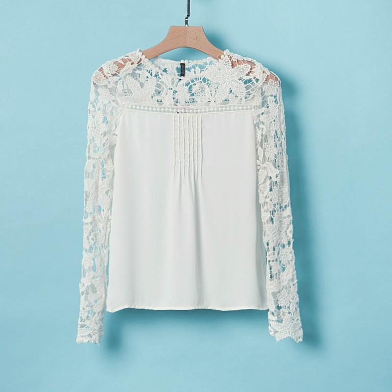 Белые Блузки С Кружевами