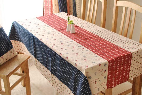 Nautical hit color linen cloth tea table cloth table cloth Korean Mediterranean decoration wedding shop(China (Mainland))