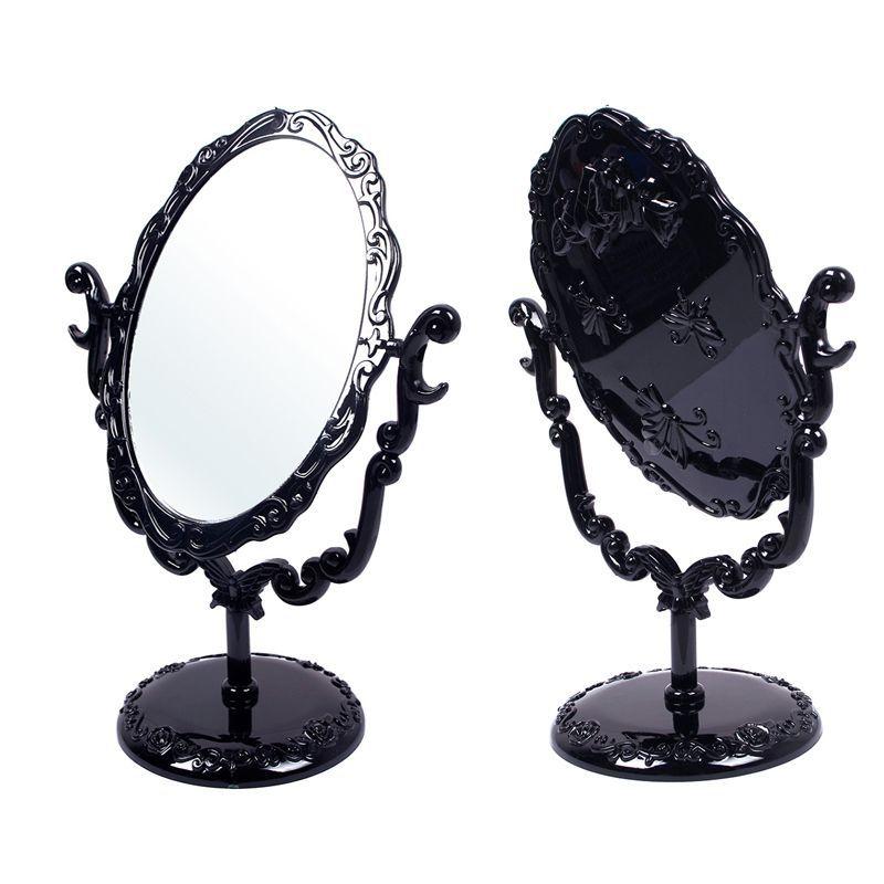 Bureau rotatif gothique petite taille rose maquillage for Miroir noir review