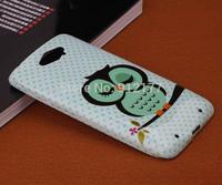 Cartoon Owl Prints TPU Soft Rubber Case Cover for Motorola Maxx Xt1225