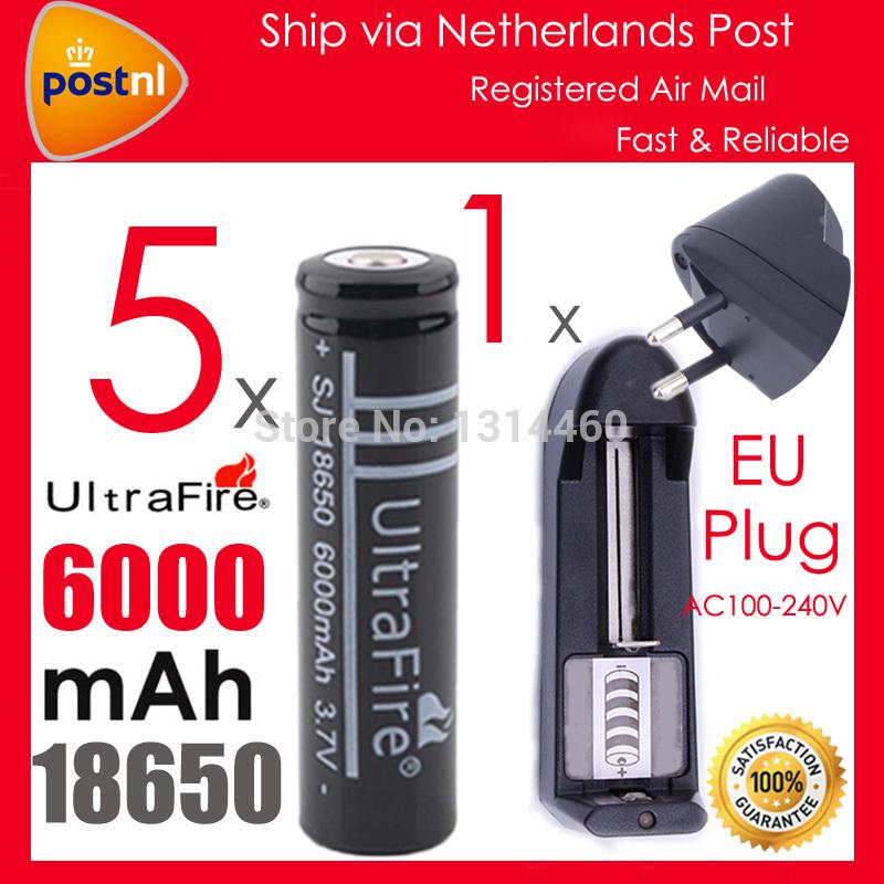 Аккумулятор 5 X 18650 UltraFire 3.7V 6000mAh Li/ion 18650 Li 18650