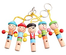 7*1.1cm Wooden whistle toys Pirates cartoon small whistle Wind instruments mini whistle(China (Mainland))
