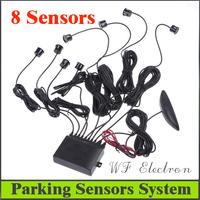 Factory Selling Hot sale Car LED Display 8 Sensors Kit Reversing Parking Radar Buzzer System,free shipping Wholesale R5