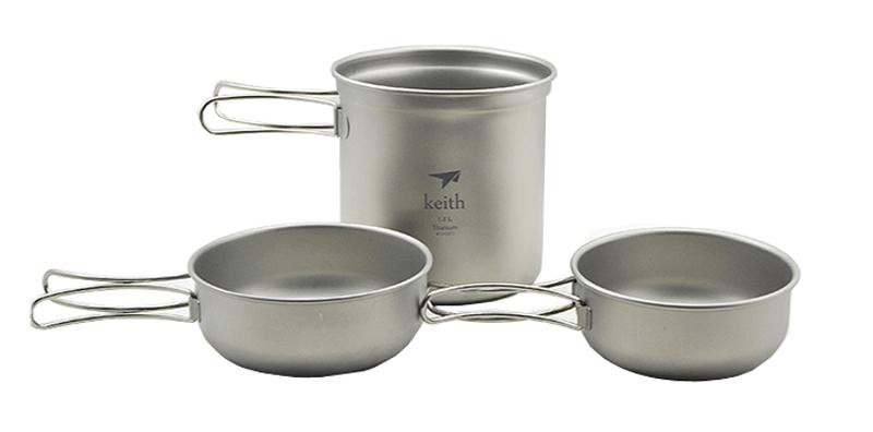 Набор посуды Keith Picec 228.5g Ti6052 купальник keith fly kj 1721