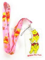 20pcs Bear Neck Strap ID Card Pin Clear Holder Lanyard Key Chain