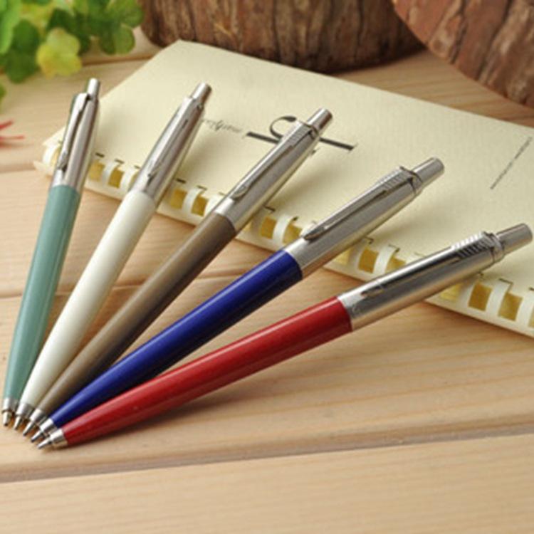 1pcs / lot Commercial metal ballpoint pen Parker pen shape gift pen core solventborne automatic ballpoint pen(China (Mainland))