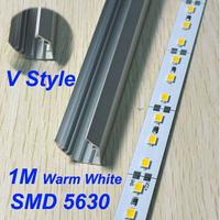 aluminum profile led strip LED Rigid Strip 1M 5630 SMD 72 LED 12V Rigid Hard Strip Bar Light warranty 2 years CE RoHS
