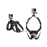 Pet Hound Dog Fetch Harness Shoulder Chest Strap Belt Mount for GoPro Hero 4 3+ 3 2 Camera Adjustable