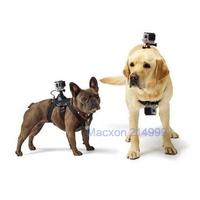 Fetch Dog Harness Chest Shoulder Strap Adjustable Belt Mount for GoPro Hero4/3+/3 2 SJ4000 Cameras Black