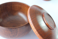 Hot new Korean tableware wood bowls dual disc cover small tureen baby suit