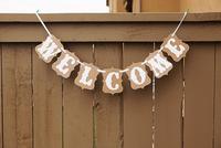 """""""Welcome"""" bunting Wedding photo booth props banner enfeites de casamento garland casamento gift favors-Free Shipping"""