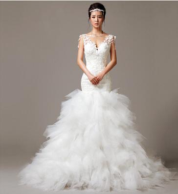 Свадебное платье Wedding dress 2015 & v/casamento Vestido Noiva свадебное платье foryou bridal casamento v vestido noiva longa fw9328