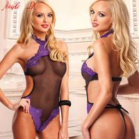 AL05 Hot Erotic See-Through Floral Lace Teddy Sleepwear Wear teddy lingerie sexy Halter Teddy Apparel