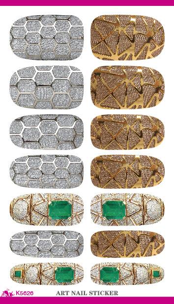 K5626 New Nail Art Stickers Metallic Jewel Fantasy Water Transfer Nail Tattoo Foils Decal Minx Manicure Decor Tools Nail Wraps(China (Mainland))