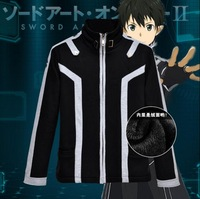 HOT NEW Sword Art Online 2 Kirigaya Kazuto Cosplay Anime Jacket Winter Pure Cotton Add wool Thickening Fleece