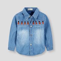 Hot Sale Kids Brand Shirts 2015 Spring Children Shirts Denim Casual Cartoon Shirts For Boy's Shirts Free Shipping