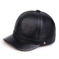 Short baseball original design small fresh genuine leather hat general winter sheepskin