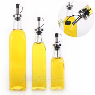 Kitchenware / Glass Oil & Vinegar Bottle / oiler / cruet / condiment bottles / olive oil bottle / square oil / 280ML(China (Mainland))
