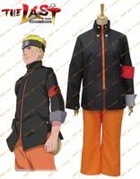 Free shipping Custom-made Naruto The movie The last-Uzumaki Naruto Cosplay Costume