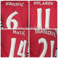 New Fashion Thailand 2014/16 European nations cup Serbia Ivanovic KOLAROV matic Modric  Red Jerseys Soccer Jersey