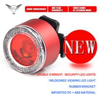 Diamond-type 7 LED 3 Modes Double O Waterproof Bike Lights 2Pcs/Lot