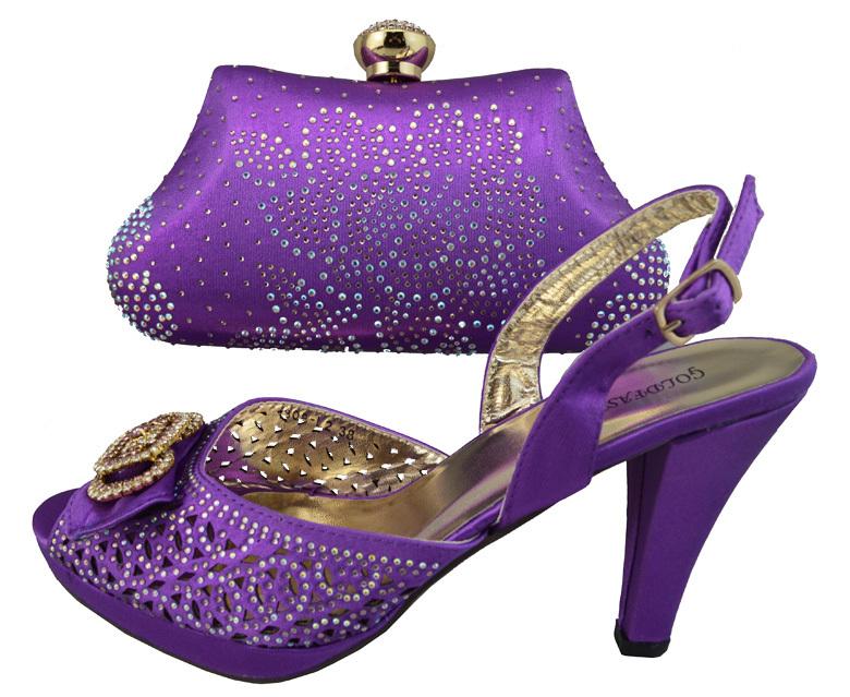 Bolsa E Sapatos Para Casamento : L a roxo cor italiano sapatos e bolsa grupo de moda